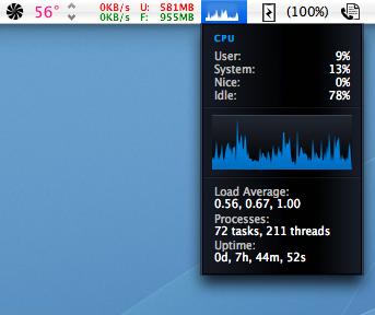 iStat menus - monitor de CPU